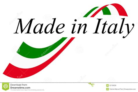 in italian seal of quality made in italy stock vector image 52138326