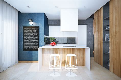 sunny kitchen and bedroom the best arrangement of apartment decorating ideas with