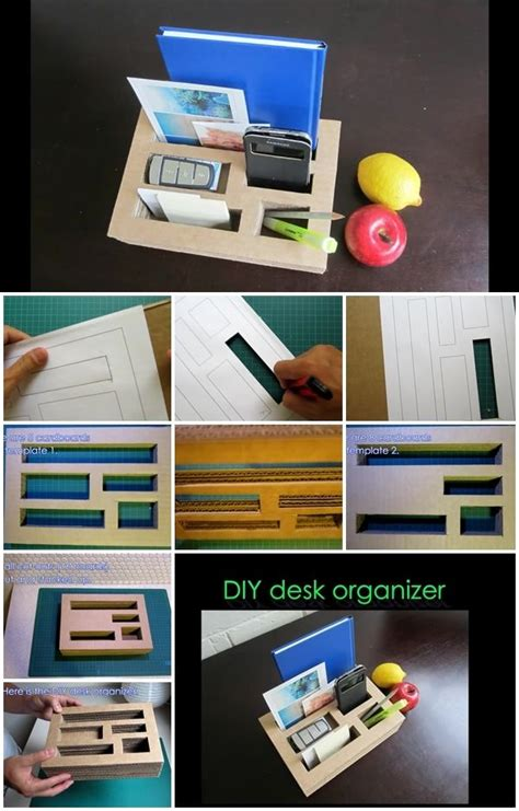 How To Make Desk Organizers by How To Make Desk Organizer From Cardboard Usefuldiy