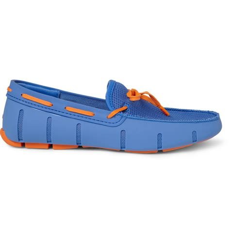 swims shoes swims lace up rubber loafer blue orange in blue for