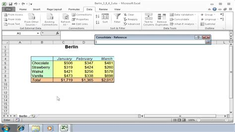 excel 2010 consolidate tutorial how to consolidate data from multiple worksheets in excel