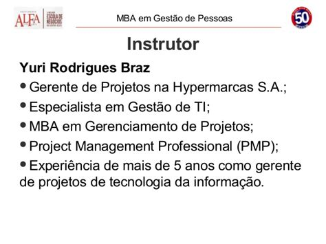 Mba Gerenciamento De Prgetos Univali Olvideo by Mba Alfa Gerenciamento De Projetos
