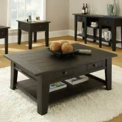 Black Living Room End Tables Living Room Attractive Modern End Table For Living Room With Rectangle Oak Wood Coffee