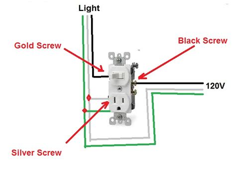combination light switch receptacle wiring diagram