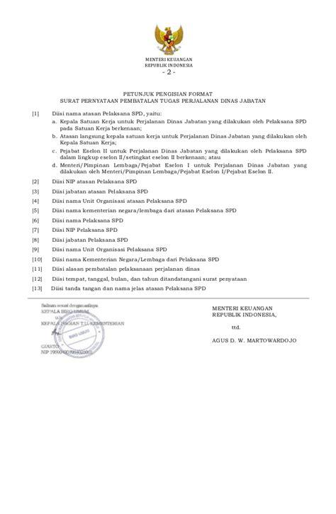 format surat kuasa pmk 229 pmk 113 tahun 2012 tentang perjalanan dinas