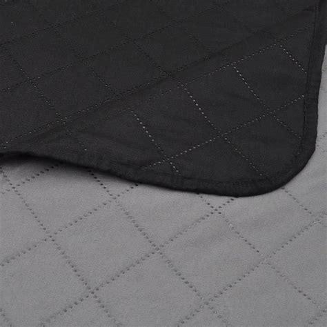 copriletto nero copriletto reversibile nero grigio 220 x 240 cm vidaxl it