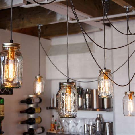 how to jar pendant lights five jam jar pendant light by nuvarti notonthehighstreet com