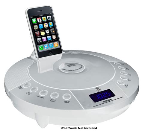 new pyle iphone ipod fm radio receiver charger cd player alarm clock w remote