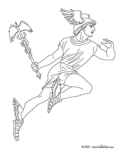 hermes the greek god of herds coloring pages hellokids com