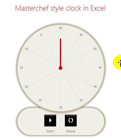 creating a masterchef style clock in excel [for fun