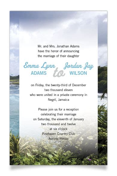 how to word reception invitations after a destination wedding reception invitation wording after wedding theruntime