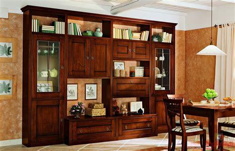 mobili per soggiorno in legno soggiorno classico in legno massello con mobile porta tv