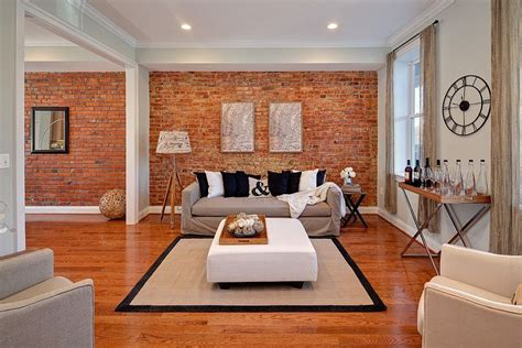 living room accent walls 100 brick wall living rooms that inspire your design