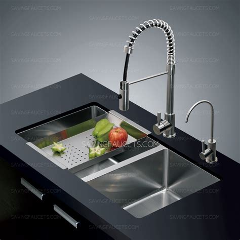 modern bowl mount stainless steel kitchen