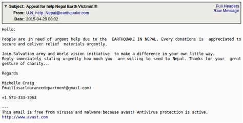 email layout french nepal earthquake scams circulating it security guru