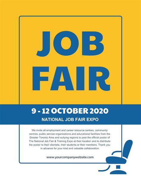 Job Fair Flyer Template Venngage Fair Flyer Template