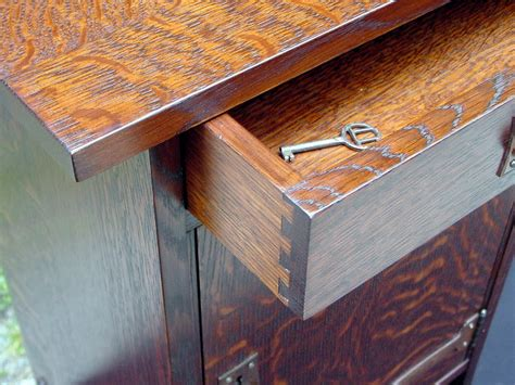 Dovetail Drawer Construction by Voorhees Craftsman Mission Oak Furniture Oak Cabinet