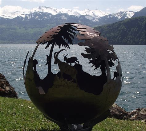 feuerkugel garten feuerkugel alpen feuerball feuerkorb klein 40cm ohne bei