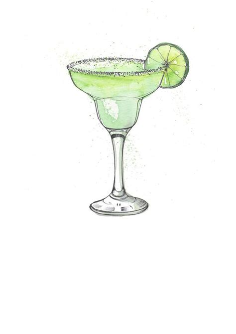 margarita illustration margarita cocktail illustration i painting cocktails