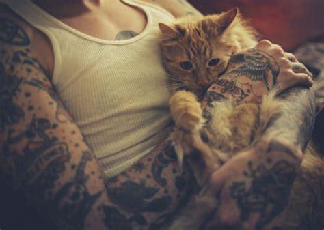 tattoo love cat cute cat tattoo image 542832 on favim com