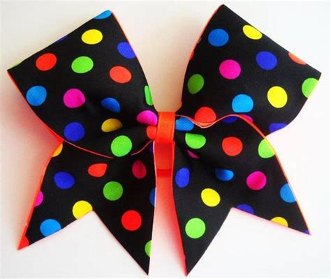 Bedong Rainbow Felicia Polkadot 1 yella ribbon cheer bows
