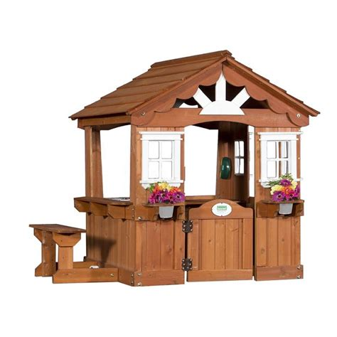 backyard discovery scenic all cedar wood playhouse for
