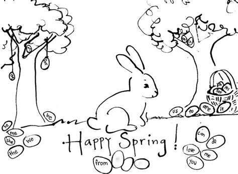 free welcome spring coloring pages