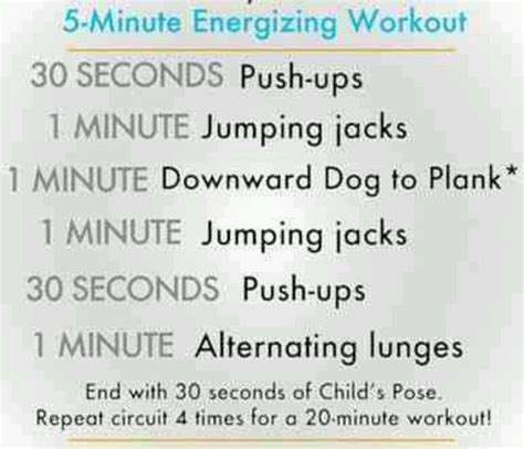 5 minute workouts korey s pins