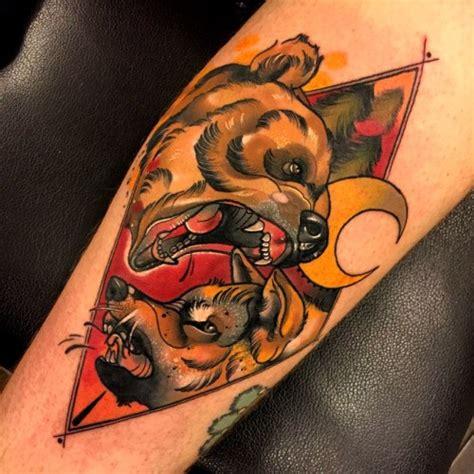 tattoo new school bear cool wolf disign part 3 tattooimages biz
