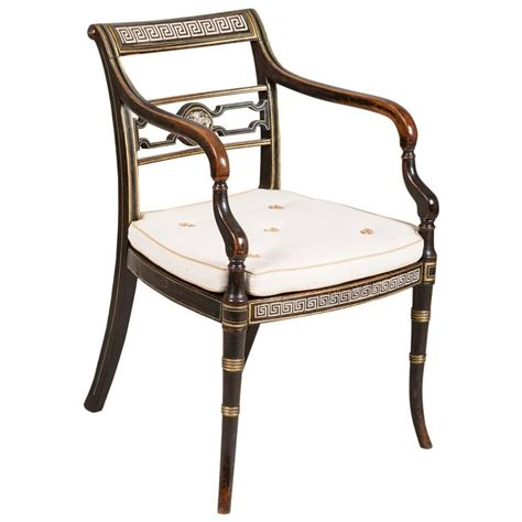 Regency Chairs by A Regency Black Painted Chair At 1stdibs