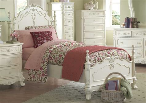 Cinderella Bedroom Furniture | homelegance cinderella poster bedroom set ecru b1386tpp
