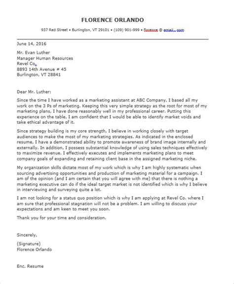 application letter for marketing 9 marketing application letter templates free word