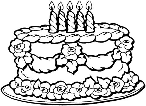 small birthday cake coloring page coloring pages free printable happy birthday coloring