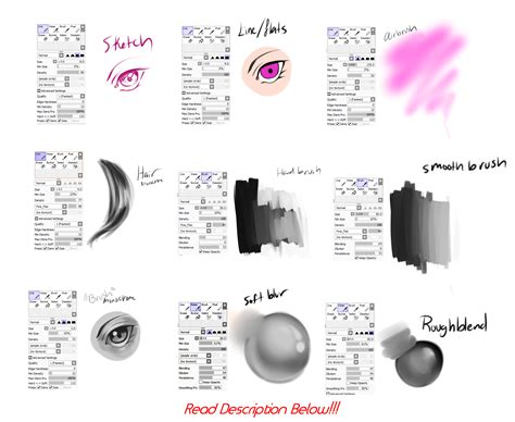 paint tool sai move brushes bekkomi s paint tool sai brush settings by bekkomi on