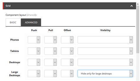 bootstrap layout structure sitecore documentation the grid settings