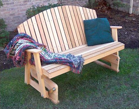 woodwork outdoor glider bench plans  plans