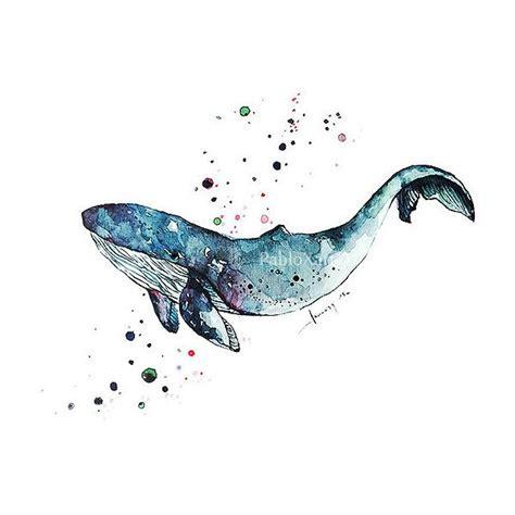 watercolor orca tutorial art print watercolor blue whale home decor ocean art