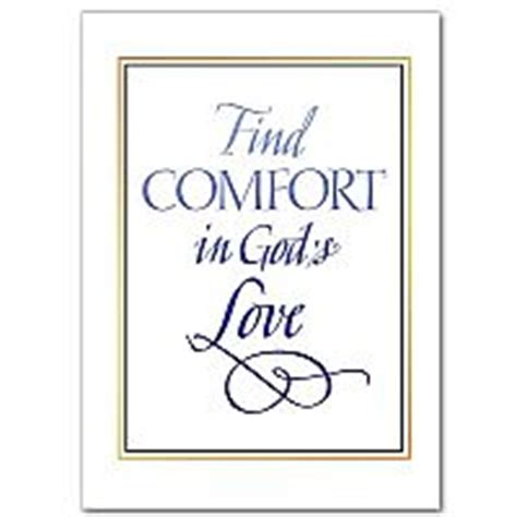 Comfort In God by A Prayer Asking God To Be With You Sympathy Card