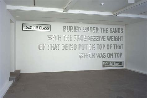 Wall Sticker Design lead on glass lawrence weiner artists lisson gallery