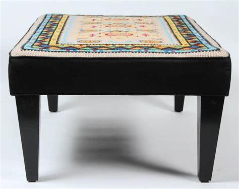 Vintage Ottomans For Sale Vintage Needlepoint Ottoman For Sale At 1stdibs