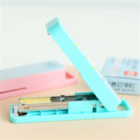 Set Stapler Staples Mini Isi No 10 accessories picture more detailed picture about geometric manual stapler no 10 color
