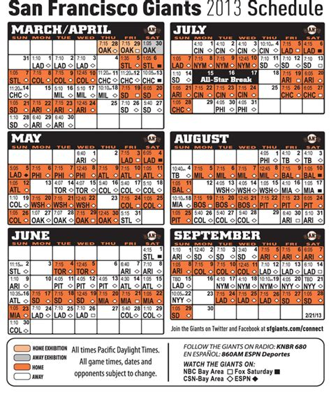 printable schedule for sf giants printable schedule sf giants auto design tech