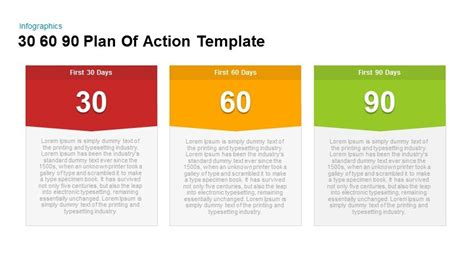 30 60 90 day template 30 60 90 plan of powerpoint and keynote template