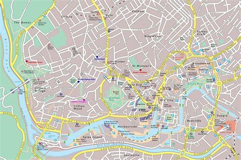 bristol on the map large bristol maps for free and print high