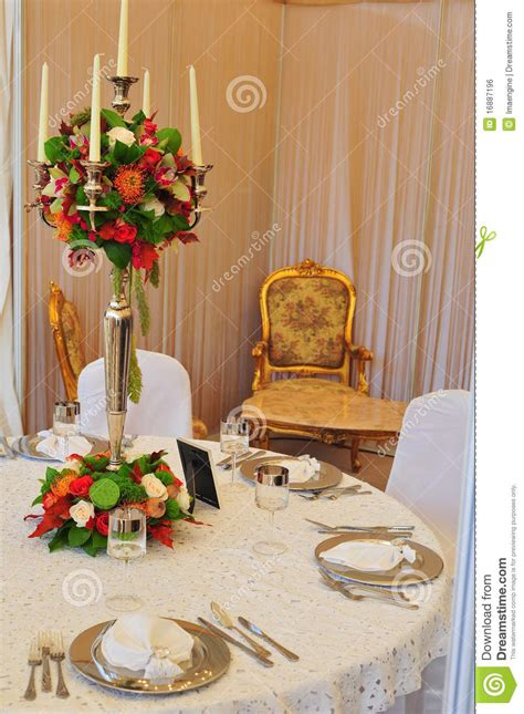 elegant table simple and elegant table setting for events royalty free