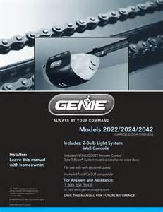 Genie Garage Door Owners Manual Genie Garage Door Opener 2022 User S Guide Manualsonline