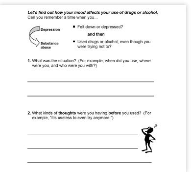 Cbt Worksheets For Substance Abuse by Substance Abuse Treatment Worksheets Free Worksheets