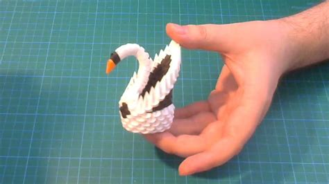 3d Origami Swan Tutorial - origami 3d origami small swan tutorial diy paper small