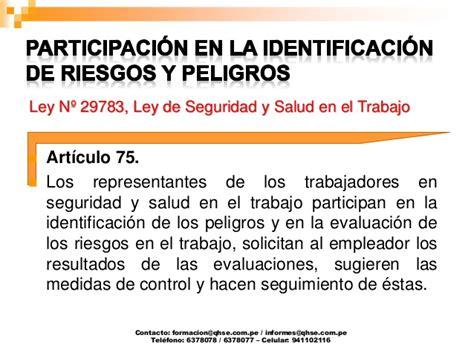 ley del trabajo en venezuela y la seguridad y salud laboral elaboracion iper segun ley 29783 seguridad y salud en el