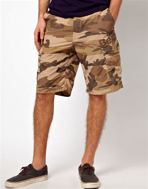 bench camo shorts bench camo cargo short in khaki for men khakigreen lyst